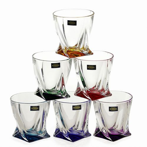 6 Quadro Tumblers 340ml Colour